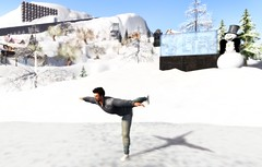 Skating at Zermatt (Ricco Saenz) Tags: winter snow iceskating skating sl secondlife snowlands