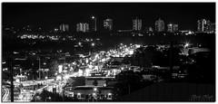 Light Show (Brett Huch Photography) Tags: road bw cars car night highway nightlights australia nsw roads aussie goldcoast tweedheads