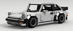 Porsche 911 Turbo (large scale) (Tom.Netherton1) Tags: city classic cars scale car vw digital race speed vintage germany power lego pov designer 911 large super turbo german porsche legos download 1970s 1980s supercar dropbox speedster 930 racer povray ldd lxf