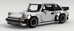 Porsche 911 Turbo (large scale) (LegoGuyTom) Tags: city classic cars scale car vw digital race speed vintage germany power lego pov designer 911 large super turbo german porsche legos download 1970s 1980s supercar dropbox speedster 930 racer povray ldd lxf