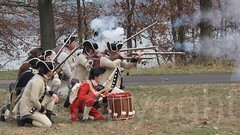 2014 Reenactment of George Washington's 1776 Retreat to Victory, Fort Lee Historic Park, New Jersey (jag9889) Tags: park costumes music usa infantry freedom newjersey war unitedstates unitedstatesofamerica nj parade demonstration pip soldiers artillery british patriots americanrevolution independence reenactment troops 1776 weapons fortlee gardenstate palisades brigade rebels commemoration 2014 tactical palisadesinterstatepark bergencounty generalwashington continentalarmy zip07024 07024 newjerseysection politicalupheaval jag9889 20141122 1776retreattovictory
