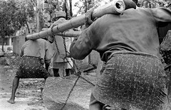 Not so easy (fabbaimages.net) Tags: street bw india film workers stones streetphotography kerala mens effort