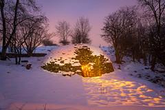 Hobbit House (J C Mills Photography) Tags: winter light house snow cold building night painting landscape warm long exposure derbyshire peakdistrict torch limestone flashlight limekiln ible viagellia