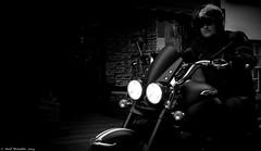 Old Guys Rule. (Neil. Moralee) Tags: street old uk shadow blackandwhite bw white man black guy monochrome bike angel speed dark hair beard mono cool nikon cornwall sinister candid helmet neil shades moustache mature wicked triumph motorcycle biker motor headlight rider rule facial looe motorcyclist 18300mm b|w d7100 moralee neilmoralee nikon18300mmd7100neilmoralee