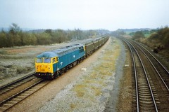 Codnor Park, 12 March 1993 (elkemasa) Tags: 1993 class56 codnorpark