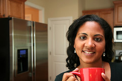 Woman (mariannadigioia) Tags: family portrait cute love cup kitchen coffee smiling laughing mom happy togetherness women pretty drinking lifestyle parent mug wife africanamerican hispanic coffeemug refrigerator cheerful ethnic affectionate middleclass 30s 40s 20s mixedrace familylife homeinterior