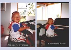 Ruby's Encore (Sandy Austin) Tags: newzealand collage auckland northisland ruby titirangi mygrandchildren westauckland electronicorgan sandyaustin panasoniclumixdmcfz40