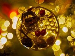 Ornament (chrisotruro) Tags: christmas winter decorations red yellow dark