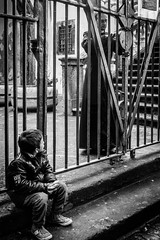 closed (MarioMancuso) Tags: life road street city people urban italy white black monochrome way mono photo italian italia noir fuji documentary scene naples fujifilm streetphoto blanc reportage monocrome 2014 photogrphy x100s