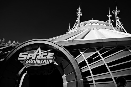 Space Mountain in Monochrome Infrared