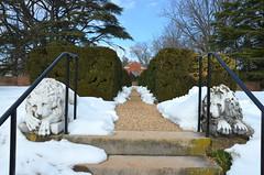A garden in snow (afagen) Tags: orange snow virginia montpelier jamesmadison montpelierstation anniedupontgarden jamesmadisonsmontpelier