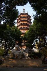 Statue of Budai () and pagoda (foliosus) Tags: sculpture art architecture temple canonefs1022mmf3545usm