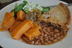 Tourtiere d'original (Jeannette Greaves) Tags: beans sara moose delicious sweetpotato spinach 2015 applerelish moosetourtiere jelliedcelerysalad