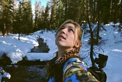 Well look there! (Alexis Snyder) Tags: alexis camping winter portrait woman selfportrait snow floral self model hiking backcountry wilderness snyder