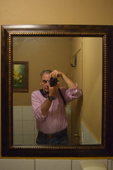 Self-Portrait, Monorom Cambodian Restaurant (jjldickinson) Tags: nikond3300 101d3300 nikon1855mmf3556gvriiafsdxnikkor promaster52mmdigitalhdprotectionfilter restaurant selfportrait jacobdickinson metaphotography bathroom mirror camera monorom cambodian longbeach