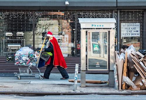 Santa on the street