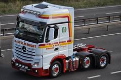 Malcolm Bright Mercedes Benz Actros MP4 YC63 WHG (truck_photos) Tags: