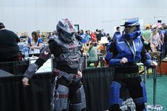 Dancing Spartans (Chicago John) Tags: portland costume expo cosplay halo retro gaming pdx cosplayer spartan 2014 pgre portlandretrogamingexpo