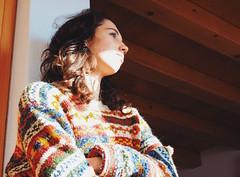 So... (Federico Rosa) Tags: wood winter light sun house texture girl vintage colours teen jumper