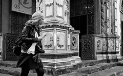 """ Walking in Florence #3 "" (pigianca) Tags: portrait italy architecture florence blackwhite candid streetphoto urbanphoto leicac"