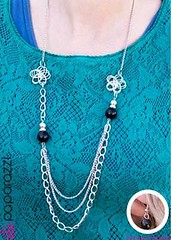 5th Avenue Black Necklace K1 P2110-4