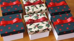 Lembrancinhas de Natal (Viviane Bonaventura) Tags: natal de mel com pão mdf caixas lembrancinhas