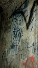 Blaze It (800Spiders) Tags: urban concrete graffiti tunnel victoria drain douglas exploration ue drainage urbex darkie draining