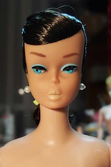 New girl - Brunette European Swirl Barbie (Pania Cope) Tags: color girl vintage mod magic barbie skipper before american restore restoration after swirl ponytail tnt midge tlc sidepart bubblecut