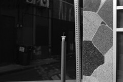 POSTED UP (beccachairin) Tags: blackandwhite bw slr cup 35mm pentax kodak trix cups drinks analogue 50mmlens