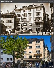 Stssihofstatt 1920 (zhdamalsheute) Tags: brunnen zrich niederdorf franziskaner stssihofstatt