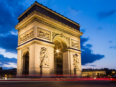 Arc De Triomphe (Eddie_UK) Tags: longexposure paris france lighttrails arcdetriomphe placecharlesdegaulle