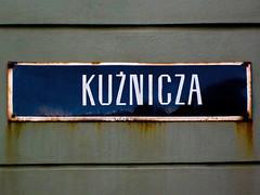 Wrocaw (isoglosse) Tags: sign streetsign poland polska schild polen sansserif wrocaw breslau znak kreska strasenschild u0179 tabliczkaznazwulicy