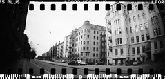 20160404-DSC_8742 (sarajoelsson) Tags: city urban blackandwhite bw panorama film monochrome 35mm gteborg march sweden gothenburg toycamera wideangle panoramic hp5 135 ilford everydaylife 2016 plasticlens filmphotography sprocketholes filmisnotdead filmshooter teamframkallning sprocketrocket believeinfilm digitizedwithdslr