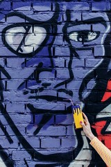 MISSY POP (DeboraDiDonato) Tags: art colors wall canon comics graffiti drink surrealism bricks cartoon surreal pop crop concept conceptual murales misterx concettuale tigerman