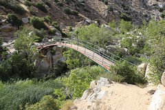 1375 The beautiful rainbow-painted arched bridge across Deep Creek at Pacific Crest Trail mile 310 (Bridge0310) (_JFR_) Tags: bridge camping hiking backpacking pacificcresttrail pct rainbowbridge deepcreek sanbernardinonationalforest