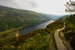 Would you stroll along this empty path? (Costigano) Tags: ireland irish lake water canon landscape eos scenery lough path scenic glendalough trail wicklow caminho lowerlake upperlake