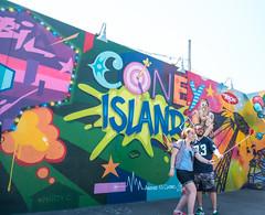 After Parade Selfie at Coney Art Walls (UrbanphotoZ) Tags: nyc newyorkcity streetart ny newyork brooklyn balloons coneyisland couple colorful target arrow mermaidparade aerosolart splat selfie tatscru parachutejump martyc anothernyclassic coneyartwalls