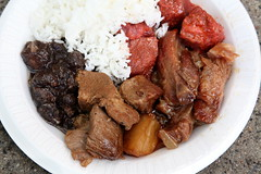 Pork sampler, Five Chris Catering, Santacruzan Festival, Jersey City (Eating In Translation) Tags: jerseycity fairsandfestivals