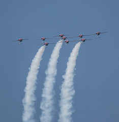 QIAS 2016 - Upside Down You're Turning Me (Jay:Dee) Tags: 2016 qias quinte international air show airshow cfb canadian forces base trenton aviation aircraft airplane military jet trainer snowbirds 431 demonstration squadron aerobatics ct114 canadair tutor