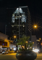 Frost bank tower reflection Austin (apopoetic) Tags: austin nikond5300 nikonphotography nightphotography cityscape skyscrapper tower texas travel travelphoto travelphotography tripod street longexposure summer 2016 vacation