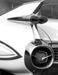 Fintastic (e r j k . a m e r j k a) Tags: bw classic cars ride cadillac fin taillight 1959 fleetwood erjkprunczyk