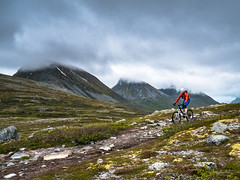 MTB at Kvaloya, Norway (Kuutti Heikkil) Tags: mountain mountains bike norway north mountainbike deep lapland biking mtb kvaloya