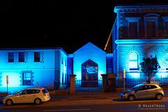 20160618-09-Blue lighting at TMAG (Roger T Wong) Tags: lighting blue night australia tasmania hobart 2016 tmag tasmanianmuseumandartgallery sony1635 rogertwong darkmofo sel1635z sonya7ii sonyilce7m2 sonyalpha7ii sonyfe1635mmf4zaosscarlzeissvariotessart