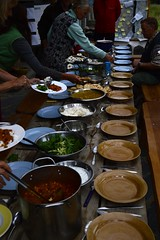 Paramaethu Cymru gathering Saturday evening meal, lovingly provided by Ragamuffin (Permaculture Association) Tags: wales gathering ecovillage permaculture 2016 lammas cyrmu paramaethu