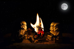 An Imperial Campfire (LensHopper) Tags: star funny lego campfire darth clones imperial wars vader minifig