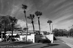 Shangri-La Mobile Home Entrance (Thomas Gremaud) Tags: 55plus blackwhite community tampabay shangrila largo florida