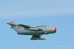 MiG 15 - Airbourne (1163) (Malcolm Bull) Tags: 20160813airbourne1163edited1web mig 15 include airbourne eastbourne airshow flying display