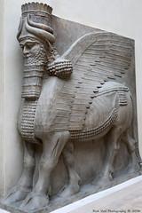 Assyrian Sculpture of a winged bull (Rick & Bart) Tags: paris france city louvre museum history art syrian sculpture statue rickvink rickbart canon eos70d gnneniyisi thebestofday