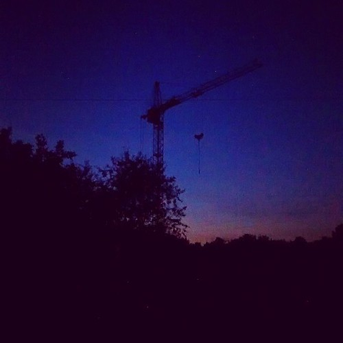 Night hoisting crane