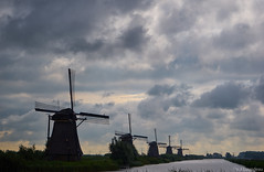 One of the most famous views of Holland (PaaulDvD) Tags: kinderdijk moulins mill mills water sea polder dutch netherlands sky cloud unesco